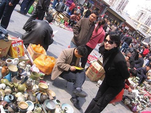 Le marché aux antiquités Panjiayuan à Pékin