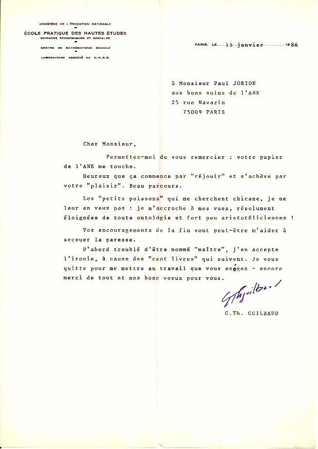 Lettre de Guilbaud 1986 Version 2