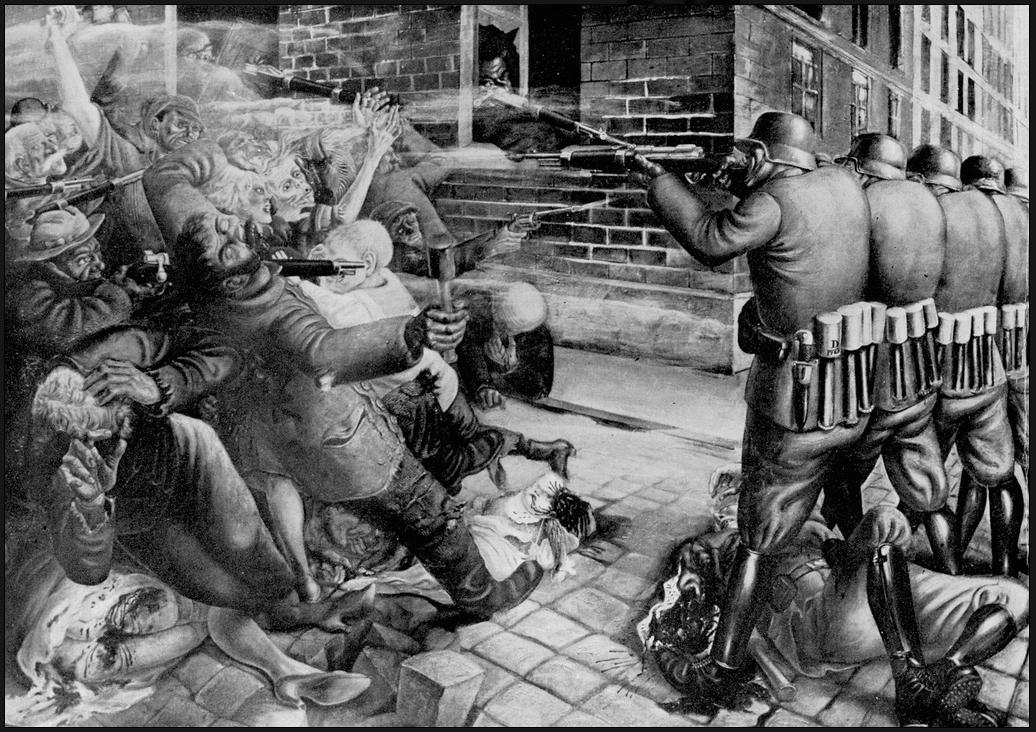 Otto dix, l'émeute , 1927 (détruit)