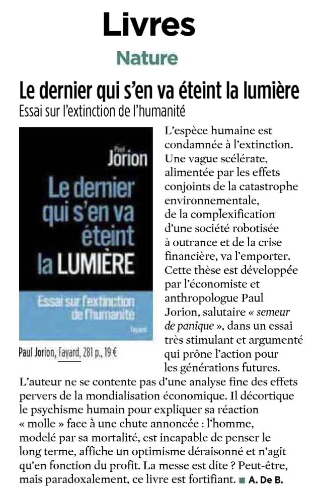 Sciences et Vie Le Dernier